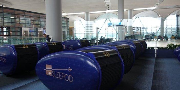İstanbul Havalimanı'nda bir saatlik uykunun bedeli 72 TL!
