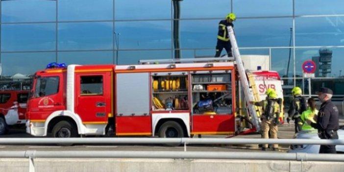 İspanya'da havalimanında korkutan yangın!