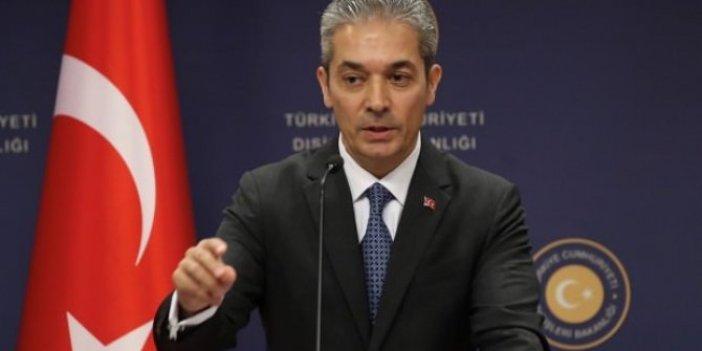 Dışişleri'nden AB'ye Kıbrıs tepkisi