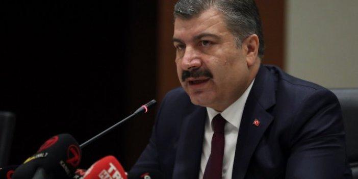 Sağlık Bakanı Fahrettin Koca'dan corona virüsü açıklaması