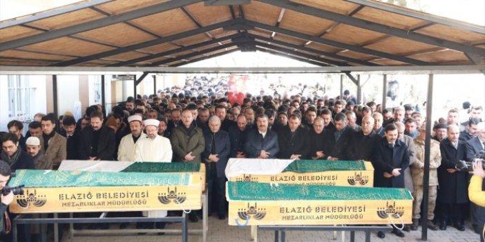 Elazığ'da hayatını kaybedenler uğurlandı