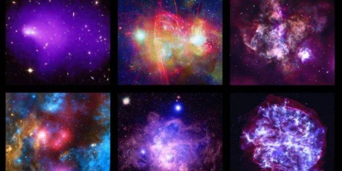 Çarpışarak birleşen galaksi öbekleri kayıt altına alındı