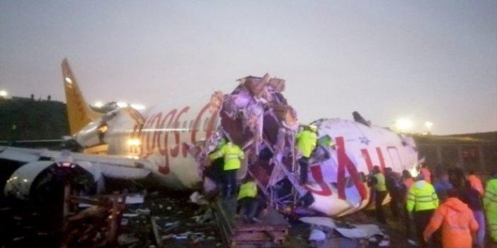 Sabiha Gökçen'de uçak pistten çıktı: 3 ölü