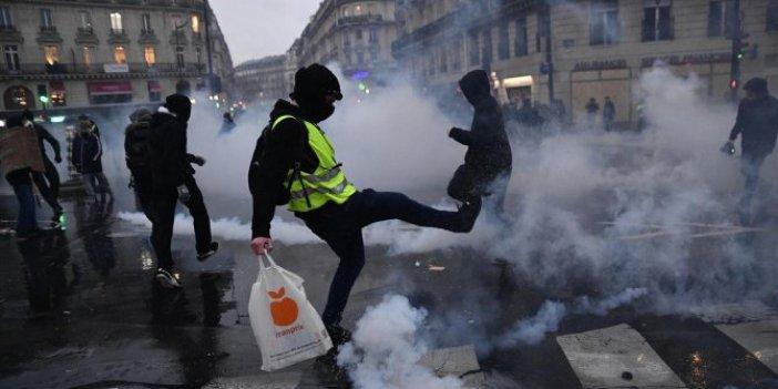 Fransa'daki eylemlere 32 gözaltı