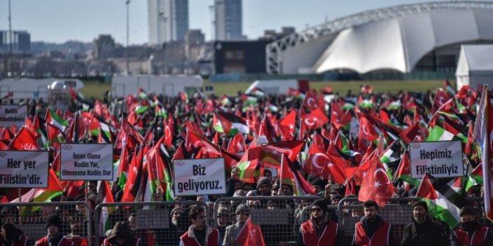 Yenikapı'da Kudüs mitingi: Bir tek AKP yok!