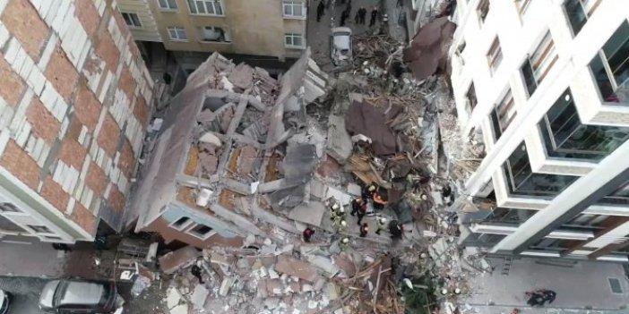 Bahçelievler'de 7 katlı bina çöktü!