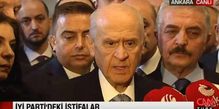 Devlet Bahçeli İYİ Parti'deki istifalar ile ilgili konuştu