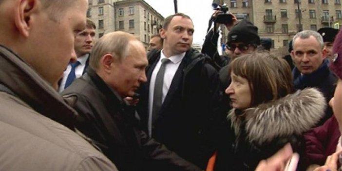 Vladimir Putin, Rus kadının sorusu karşısında zor anlar yaşadı!