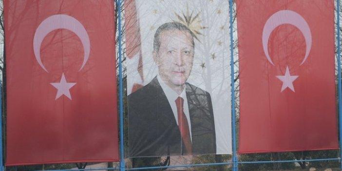Jandarma mezuniyet töreninde Cumhurbaşkanı Erdoğan'ın pankartı açıldı