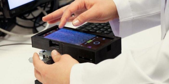 Türk bilim insanlarından taşınabilir mikroskop!