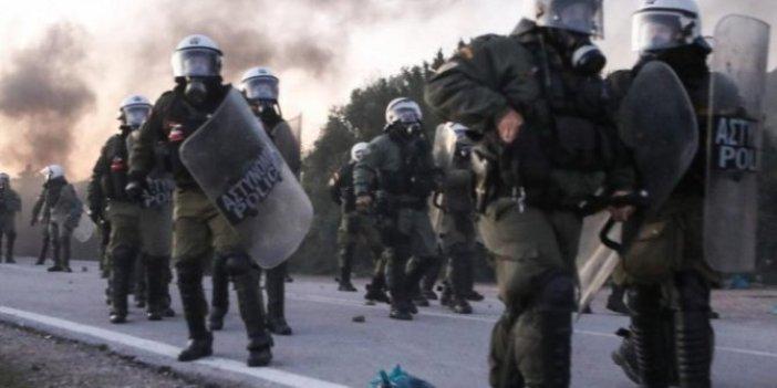Yunanistan'dan sığınmacılara gazlı müdahale