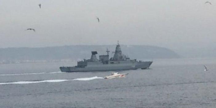 Alman savaş gemisi boğaz sularında