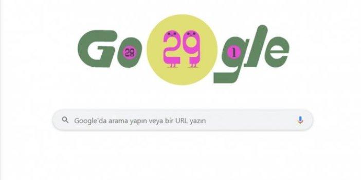 Google'dan 29 Şubat'a özel doodle