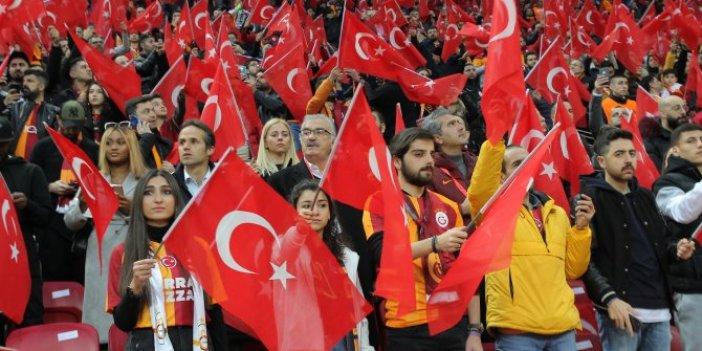 Galatasaray-Gençlerbirliği maçında şehitlerimiz unutulmadı