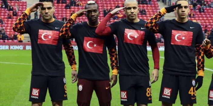 Galatasaraylı futbolculardan asker selamı