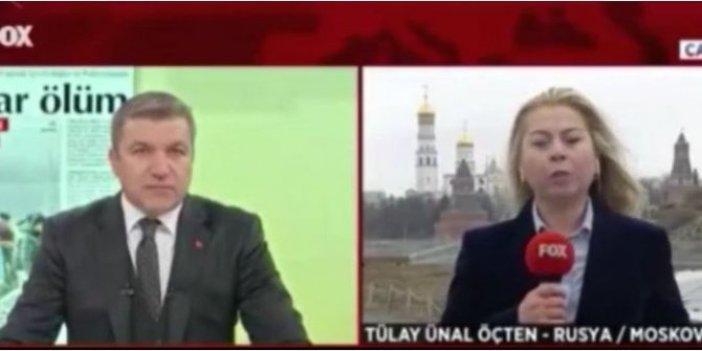 Rus polisi FOX Haber'in canlı yayınına müdahale etti!