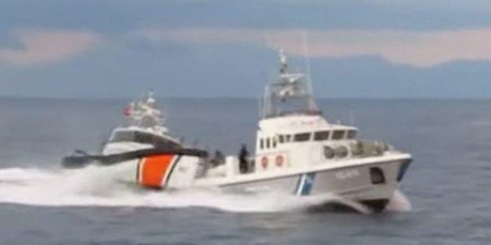Türk botu Yunan botunu böyle kovaladı!