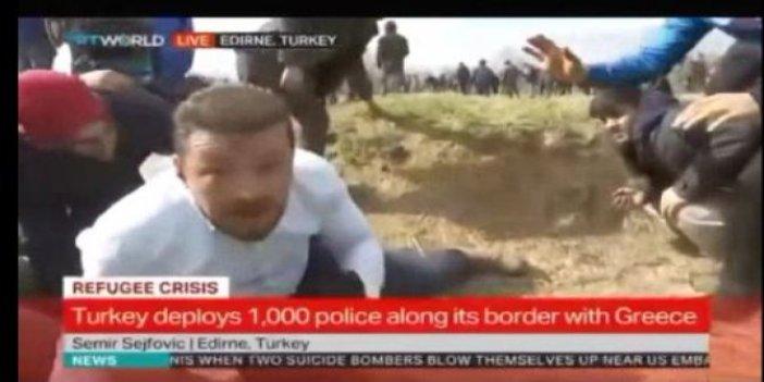 Sınırda neler oluyor? Yunan polisi canlı yayında ateş etti