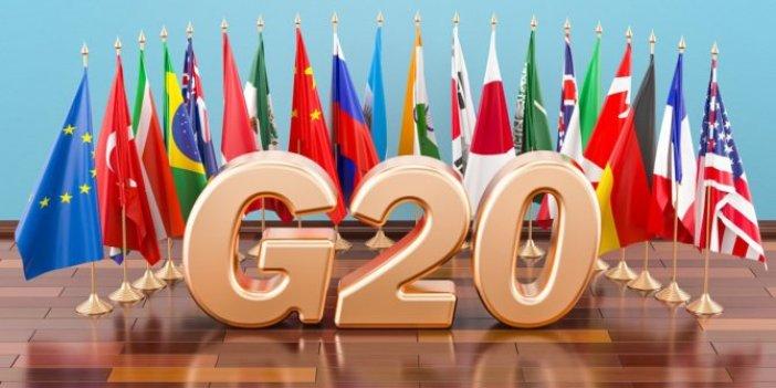 G20 büyümesi yüzde 0.6'ya indi