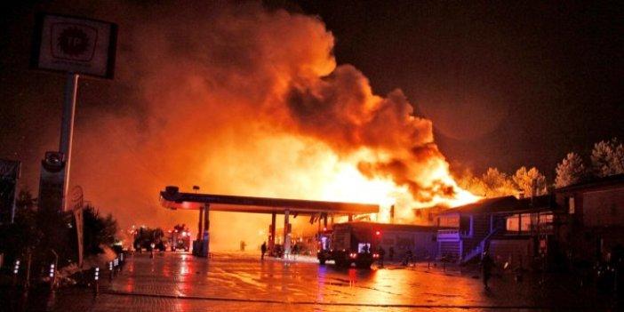 Bilecik'te benzin istasyonunda yangın