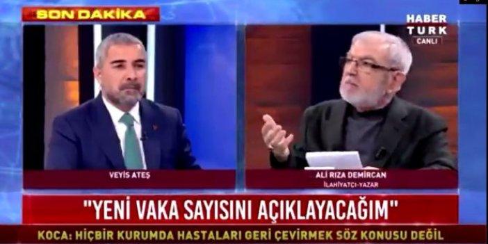 Habertürk'te ilahiyatçı Ali Rıza Demircan'dan ilginç korona virüs çıkışı