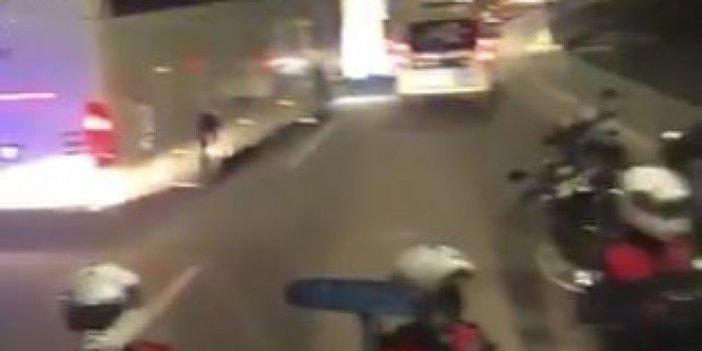 Karantinadaki yolcu polis kontrolüyle otobüsten indirildi