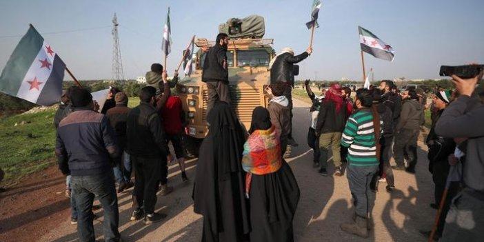 Suriye'de ortak devriye atan Türk ve Rus askerlerine taşlı- sopalı engel