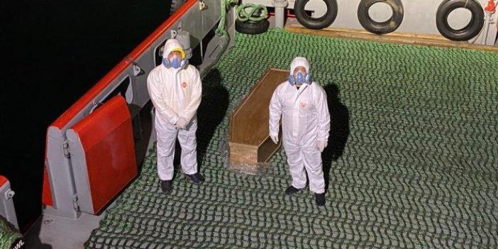 Beykoz'da demirli geminin kaptanı koronadan öldü iddiası