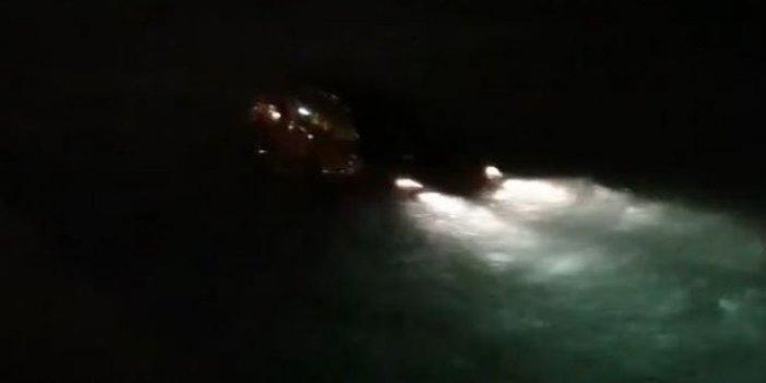 Sağlık çalışanı aracı ile denize uçtu