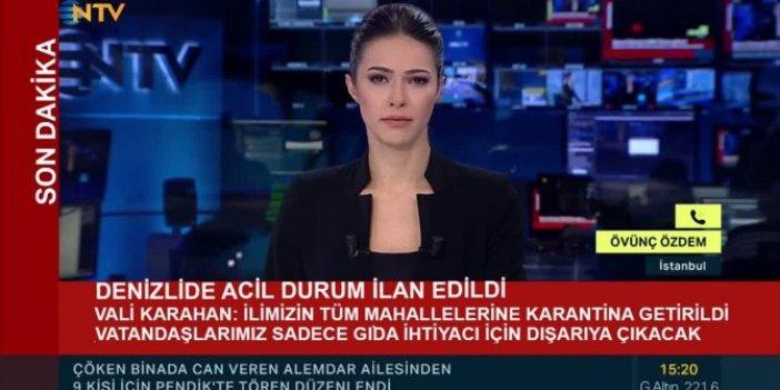 NTV ekranına montaj yapıp, 'Denizli'de acil durum ilan edildi' diye yaydılar
