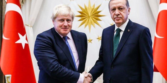 Cumhurbaşkanı Erdoğan, İngiltere Başbakanı Boris Johnson'a yolladı
