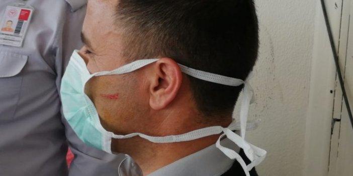 Adana'da korona virüs şüphelisi virüs bulaştırmak için yüzlerine öksürdü