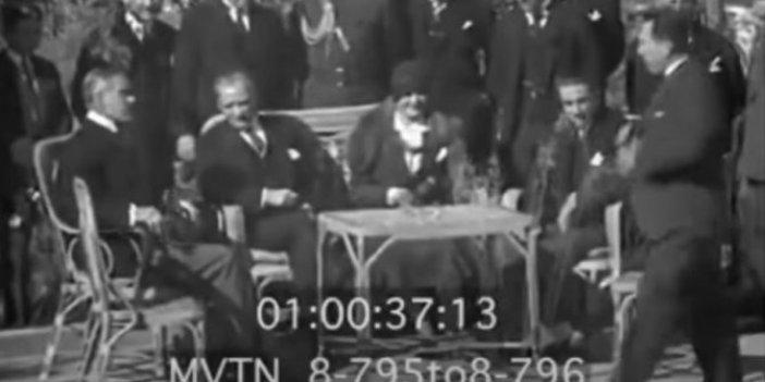 İşte Atatürk'ün su gibi Fransızca konuştuğu görüntü