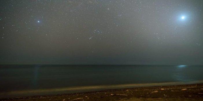 Bu fotoğraf dün gece Hatay'da çekildi