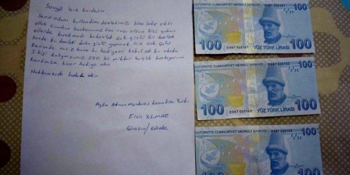 Aydın'da yurtlardan ayrılan vatandaşlar para bıraktı