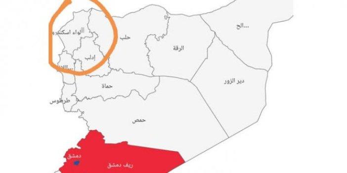 Esad'ın skandal korona virüs haritası!