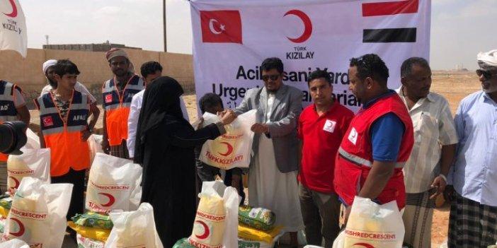 Kızılay'dan Yemen'e 5000 kolilik yardım
