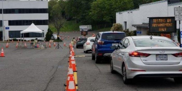 Arabaya servis korona testi: Uzun araç kuyrukları oluştu