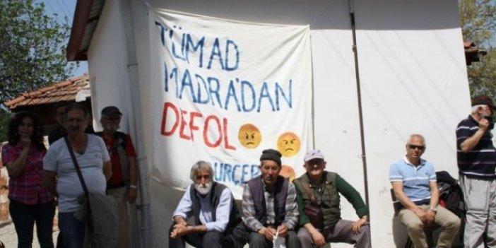 Maden ziyareti yapan başkana protesto