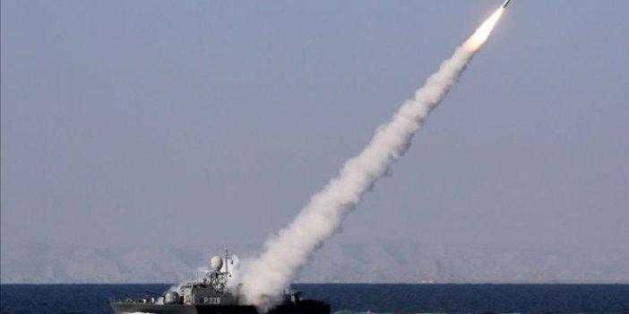İran şimdi de tatbikattakendi savaş gemisinivurdu