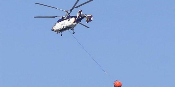 KKTC'deki yangına Türkiye'den 2 helikopter gönderildi