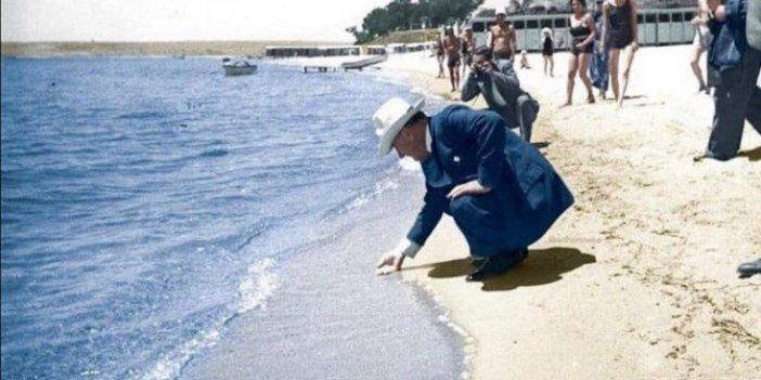 İşte Atatürk'ün büyüklüğünü anlatan fotoğraf: Bu hareketine hayran kalacaksınız