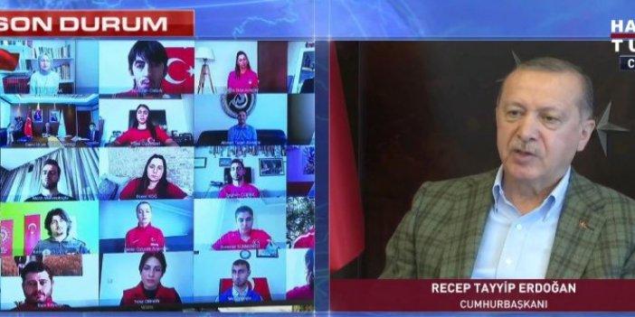 Erdoğan canlı yayında konuştu