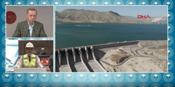Cumhurbaşkanı Erdoğan Ilısu Barajı'nın ilk türbin açılışında konuştu