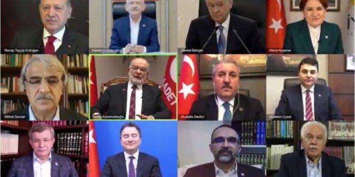 Çok konuşulacak görüntüler: Parti genel başkanlarını bir araya getirdiler