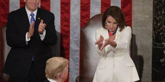 """Trump ile Pelosi arasında """"akıl hastası"""" ve """"şişko"""" polemiği, Trump'ın konuşma metnini yırtmıştı"""