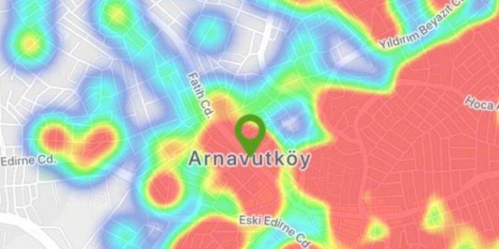 İstanbul'un korona virüs yoğunluk haritası güncellendi; Bu bölgede oturanlar dikkat