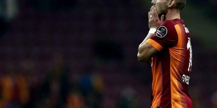 Galatasaray'da Wesley Sneijder sürprizi