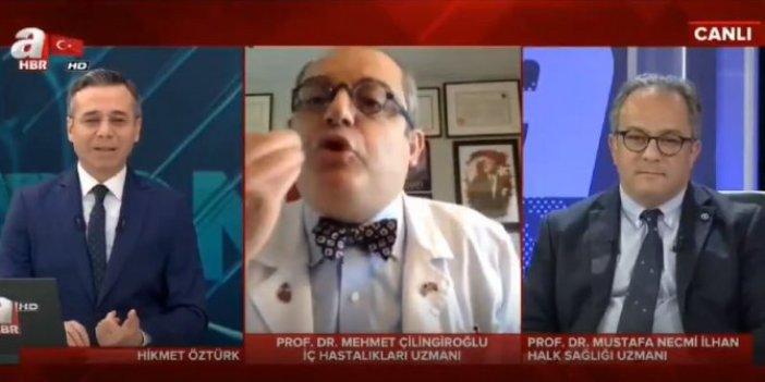 Prof. Dr. Mehmet Çilingiroğlu'ndan A Haber canlı yayınında olay hareket
