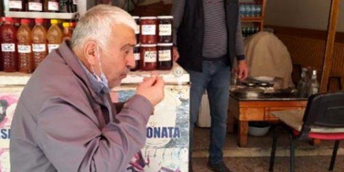 Yasağa rağmen dışarı çıkınca hayatının en pahalı karsambaç tatlısını yedi